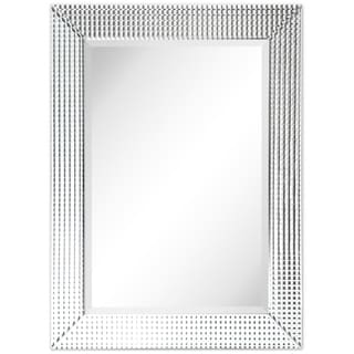 Bling Beveled Glass Rectangle Wall Mirror,Bathroom,Bedroom,Living Room,Ready to Hang - Clear - 30 in. x 1.24 in. x 40 in.