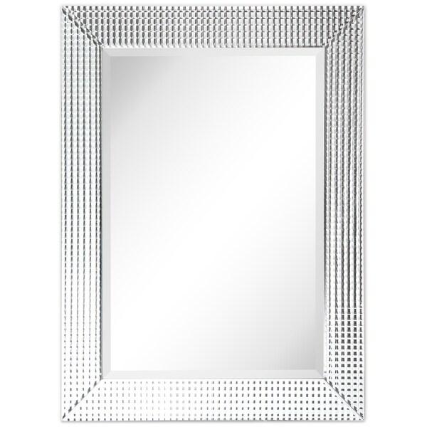 Shop Bling Beveled Glass Rectangle Wall Mirror,Bathroom ...