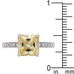 Kate Bissett Sterling Silver Yellow Cubic Zirconia Ring - Thumbnail 2