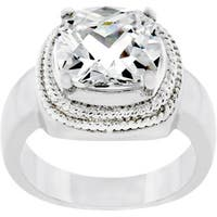 Kate Bissett Silvertone Clear Cubic Zirconia Ring