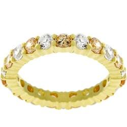 Kate Bissett 18k Gold Over Sterling Silver Stackable CZ Eternity Ring