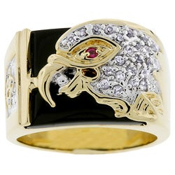 Kate Bissett Men's Goldtone Eagle Design Ring