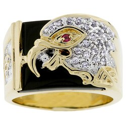 Kate Bissett Men's Goldtone Eagle Design Ring