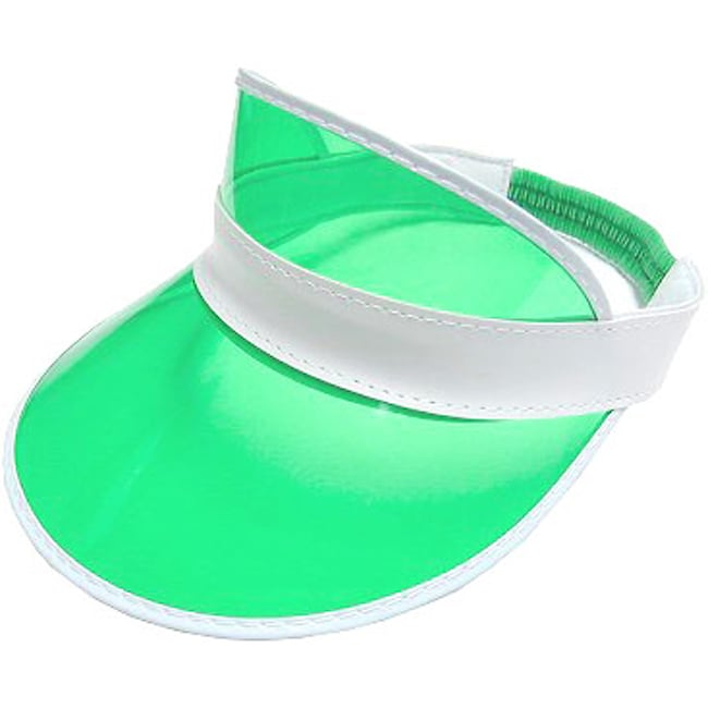 Transparent Green Poker Dealer Visors (Case of 6)