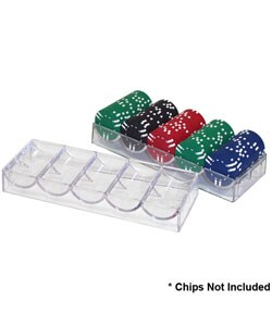 Acrylic Casino Chip Trays (Lot of 10)