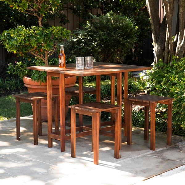 Havenside Home Tooley Outdoor Dining Set (Set of 5)