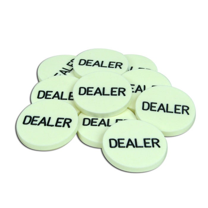 Dealer Buttons for Texas Hold 'Em (Lot of 10) - Thumbnail 1