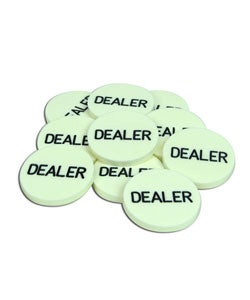 Acrylic Dealer Button  Engraved Professional Casino Table Accessory by Trademark Poker