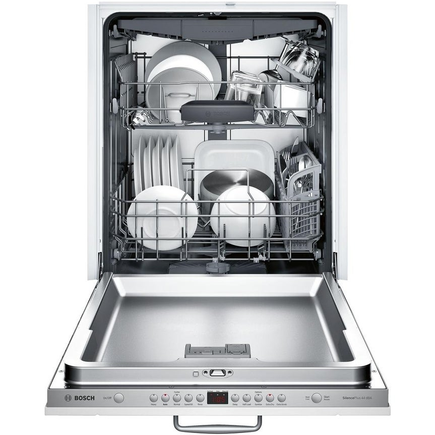 """Bosch  SHV863WB3N 24"""" 300 Series Dishwasher with 3rd Rack, 44 dBA, FlexSpace Tines, RackMatic, Speed60, in Panel Ready"""
