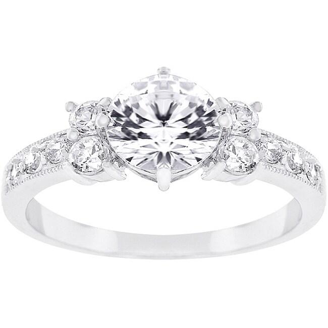 Kate Bissett Silvertone Cubic Zirconia Bridal-inspired Ring