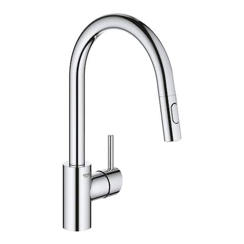Grohe Concetto Single Hole Pullout Swivel Kitchen Faucet