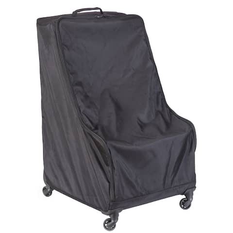 Black Children's Car Seat Travel and Storage Bag with Wheels