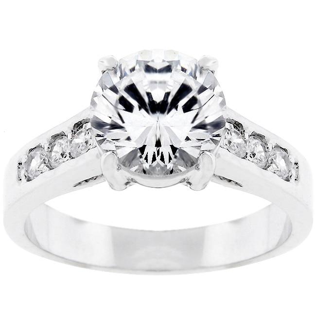 Kate Bissett Silvertone Bridal-inspired CZ Ring