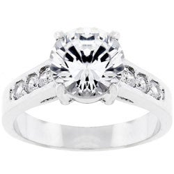 Kate Bissett Silvertone Bridal-inspired CZ Ring (More options available)