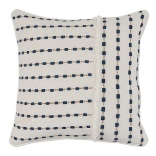 Kosas Home Kassia Embroidered 100% Linen 20-inch Throw Pillow