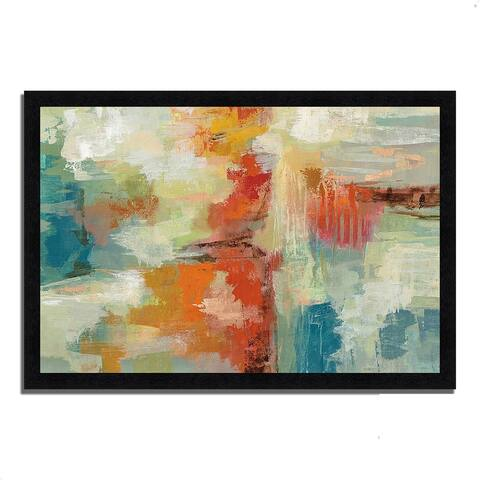 """Coral Reef"" by Silvia Vassileva, Framed Painting Print"