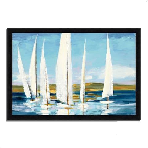 """Horizon"" by Julia Purinton, Framed Painting Print"