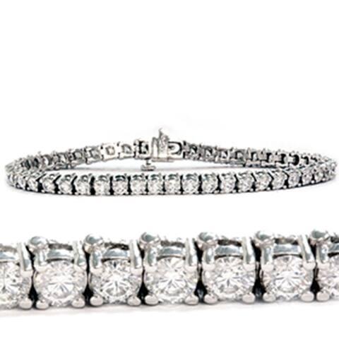 6 1/4ct Lab Grown Diamond Tennis Bracelet 14K White Gold