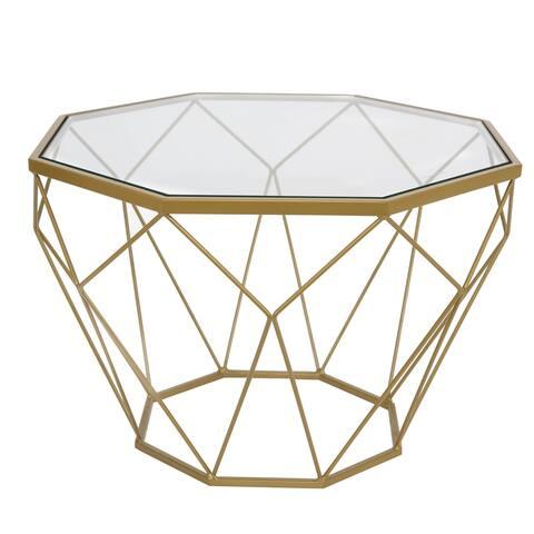 Carson Carrington Ingla Round Modern Glass Top Coffee Table