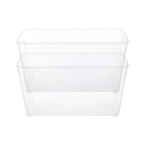 Kenney Storage Made Simple Organizer Bin with Handles, 2-pack, Clear