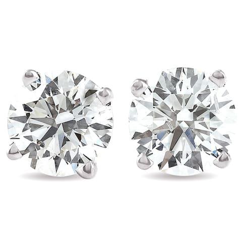 14k White Gold 1 1/4ct TDW Lab Grown Diamond Screw Back Studs