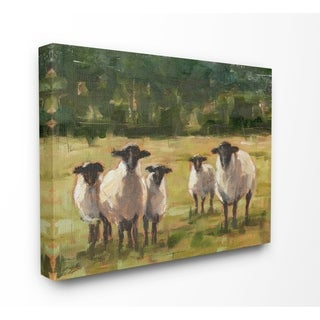 Stupell Industries Flock of Sheep Family Painting, Proudly Made in USA - 36 x 48