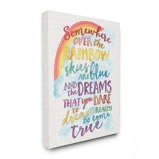 The Kids Room by Stupell Somewhere Over the Rainbow with Rainbow, Proudly Made in USA - 30 x 40