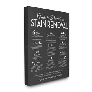 Stupell Industries Guide to Stain Removals, Proudly Made in USA - 24 x 30