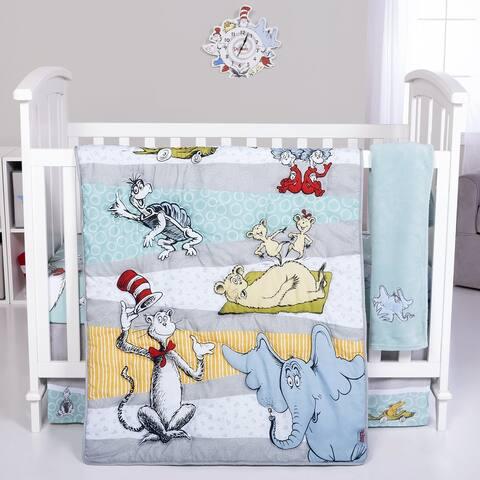Dr. Seuss Book Club 4 Piece Crib Bedding Set