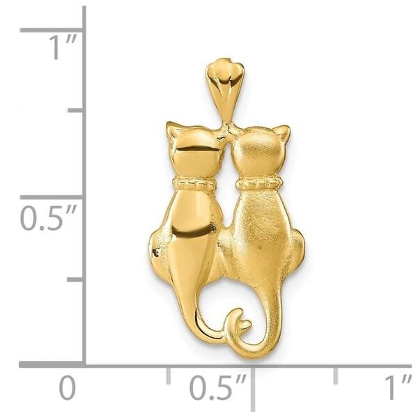 14K Yellow Gold /& White Gold 28x19mm Crucifix Pendant