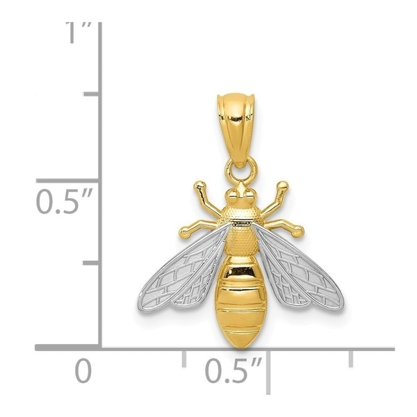 14k Polished Bee Pendant 14 kt Yellow Gold