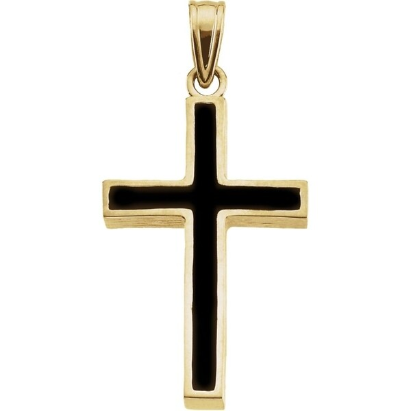 FB Jewels 14k White Gold 26x15mm Orthodox Cross Pendant