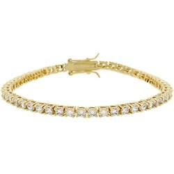 Kate Bissett Goldtone Round Cubic Zirconia Tennis Bracelet