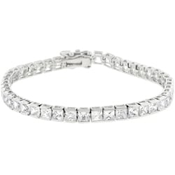 Kate Bissett Silvertone Cubic Zirconia Tennis Bracelet