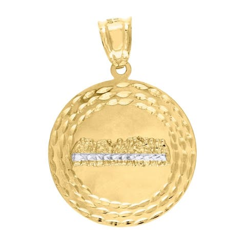 Curata 10k Gold Two-tone Dc Mens Last Supper Height 37.7mm X Width 26.5mm Religious Charm Pendant
