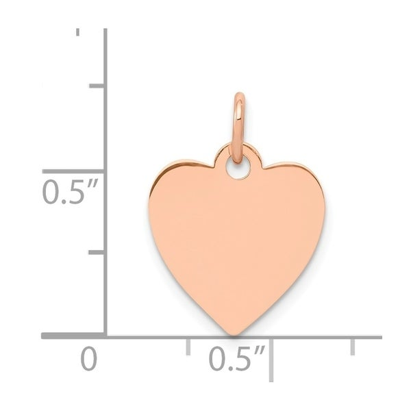 14K Rose Gold Medium Engravable Heart Charm