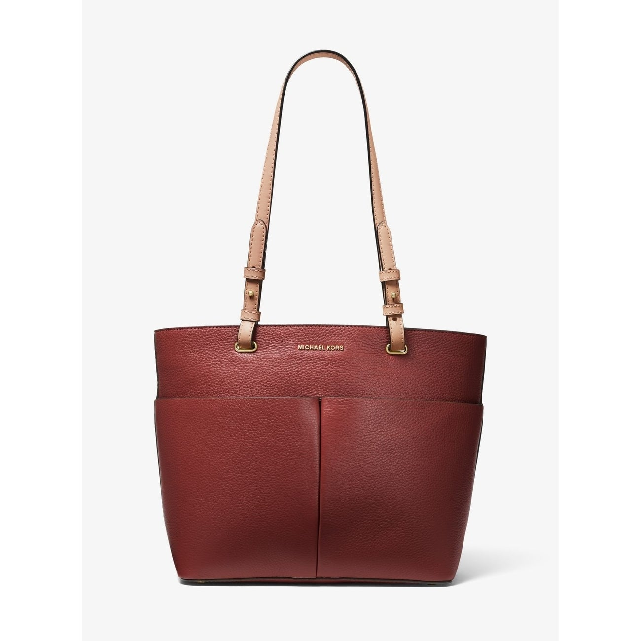 MICHAEL Michael Kors Bedford Pebble Leather Pocket Tote BrandyGold
