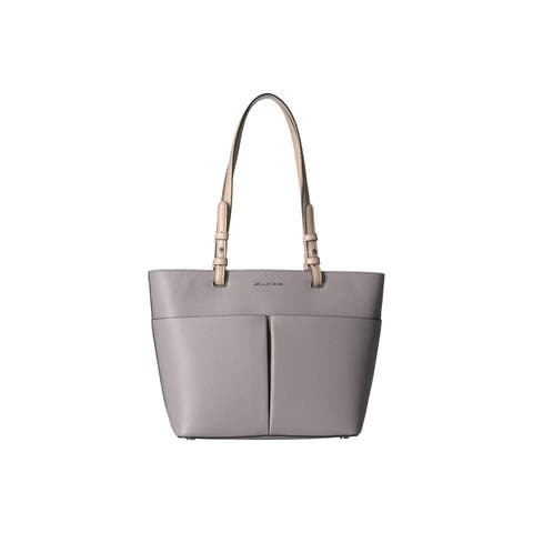 MICHAEL Michael Kors Bedford Pebble Leather Pocket Tote Pearl Grey/Silver by  Best Choices