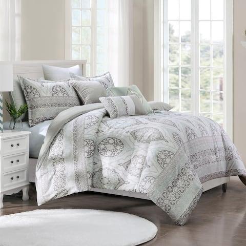 Bello embroidery 6 piece comforter set