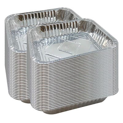 Half Size Deep Foil Pan Packs 12 1/2x 10 1/2Aluminum Safe for Use in Freezer, Oven, and Steam Table Pan (60)