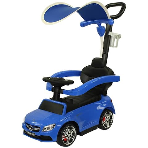 Evezo Mercedes AMG C63 Coupe Ride-On Push Car with Canopy