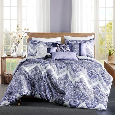 Ewing embroidery 7 piece comforter set