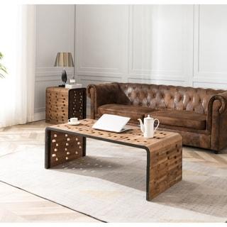 Burnham Home Parker Modern Brown Wood Coffee Table