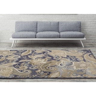 Antique Collection Blue/Gold Area Rug