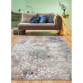 Eleni Collection Multicolor Abstract Area Rug