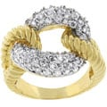 Kate Bissett Two-tone CZ Cocktail Ring