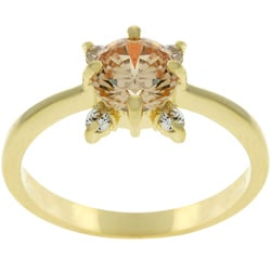 Kate Bissett Goldtone Clear Cubic Zirconia Ring