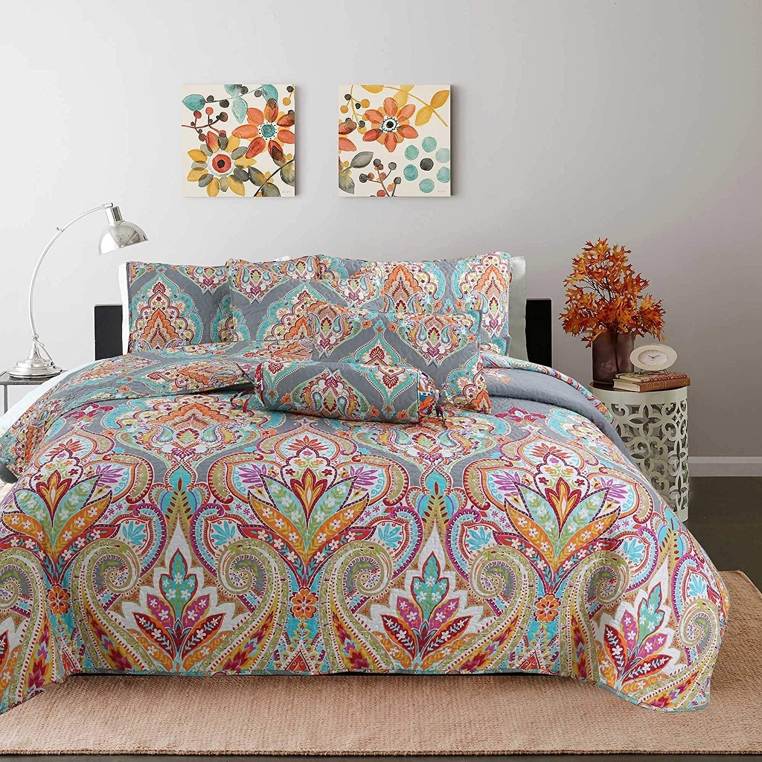 Kaylee Paisley Reversible 3 Piece Quilt Set On Sale Overstock 30327747