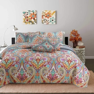 Link to Kaylee Paisley Reversible 3-Piece Quilt Set Similar Items in Quilts & Coverlets
