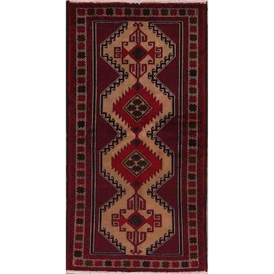 "Geometric Balouch Oriental Area Rug Handmade Oriental Wool Carpet - 3'6"" x 6'10"""